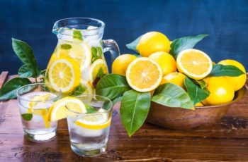 Lemon water morning drink